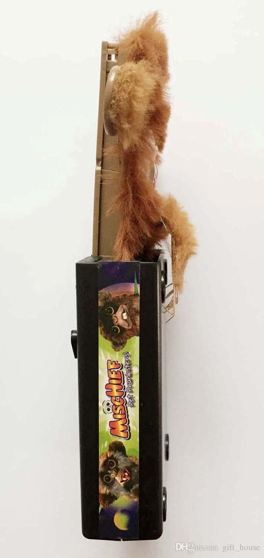 Sıcak Sneekums Pet Pranksters Jitters Kürk Plastik Kahverengi Pet Sneekums Jitters Komik Maymun Sneekums Oyuncaklar Pet Düğmesi Tel Modu Noel Hediyesi