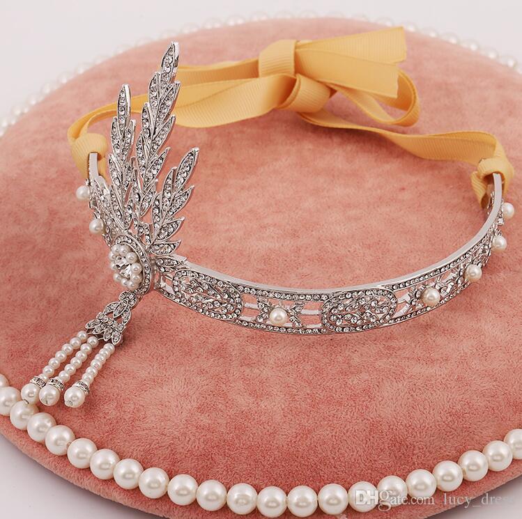 Luxuoso Junoesque Sparkle Pageant Coroas Strass Casamento Coroas De Noiva Nupcial Jóias Tiaras Acessórios Para o Cabelo Com Faixa de Cabelo