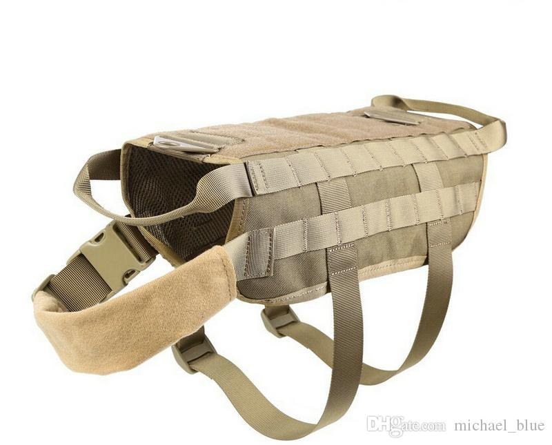 Tactical Caça Dog Vest Molle Sistema Harness Use Colete De Treinamento Canino Pet Dog Jaqueta de Desgaste Ao Ar Livre Caça Vest