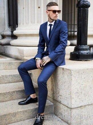 2015 Custom Slim Fit Mens Business Suit Jacket   Pants   Tie ...