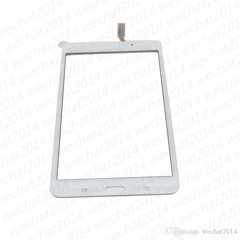 OEM Dokunmatik Ekran Digitizer Cam Lens Bant Yapıştırıcı ile Samsung Tab 4 7.0 T230 T231 ücretsiz DHL Kargo