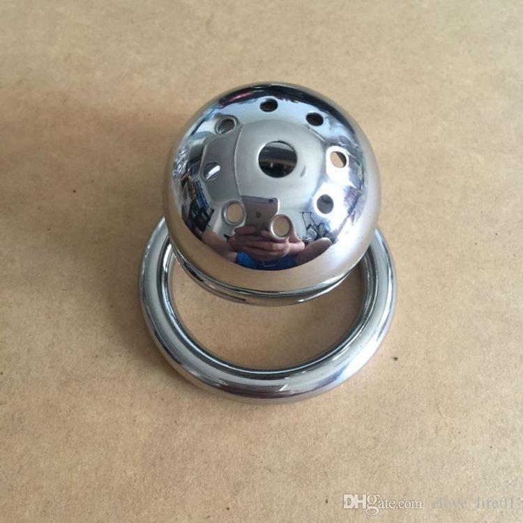 Più nuovo stealth lock in acciaio inox dispositivo di castità maschile piccolo piccolo cazzo gabbia pene verginità serratura cazzo anello cintura di castità s028