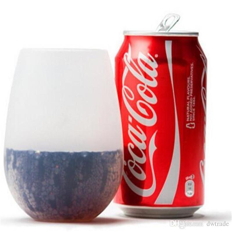 새로운 디자인 유행 2017 쉽게 나르십시오 깨지지 않는 명확한 고무 포도주 컵 실리콘 포도주 잔 포도주 잔