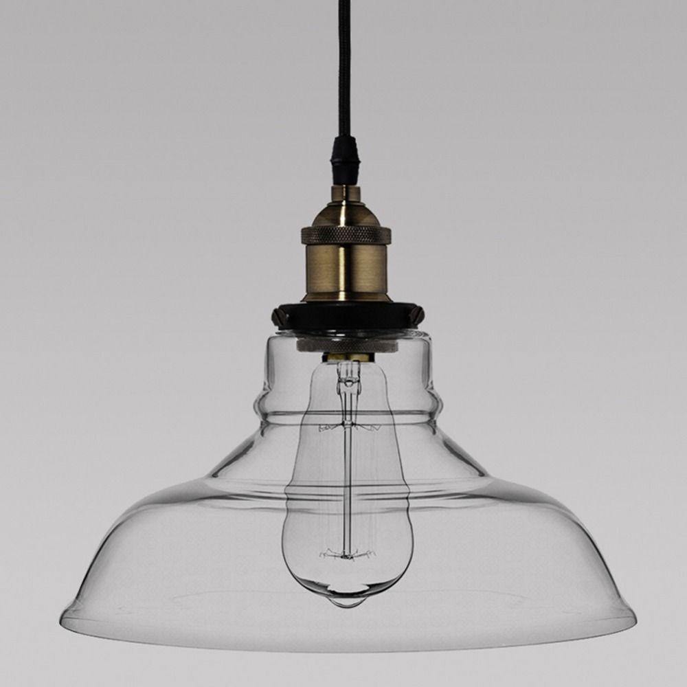 Acheter Lampe En Verre Vintage Lampe Pendulaire En Fer Rétro E27