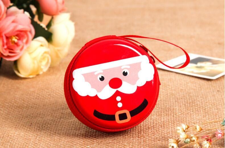 Funny Cute Girl Pula Coin Purse Round Tin Box Mochila Bag Tinplate Zipper Bag Women Purse Headset Creative Coin Bag