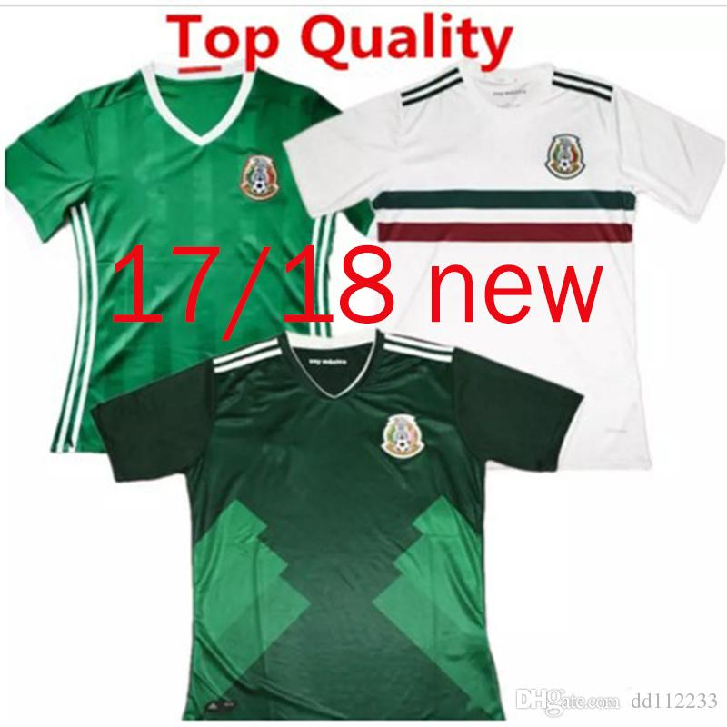 5e6d7b4e604 2019 New Arrived 2017 2018 Mexico Soccer Jersey Home Away 17 18 Green  Football Shirt CHICHARITO Camisetas De Futbol Javier Hernandez G DOS SANTOS  From ...