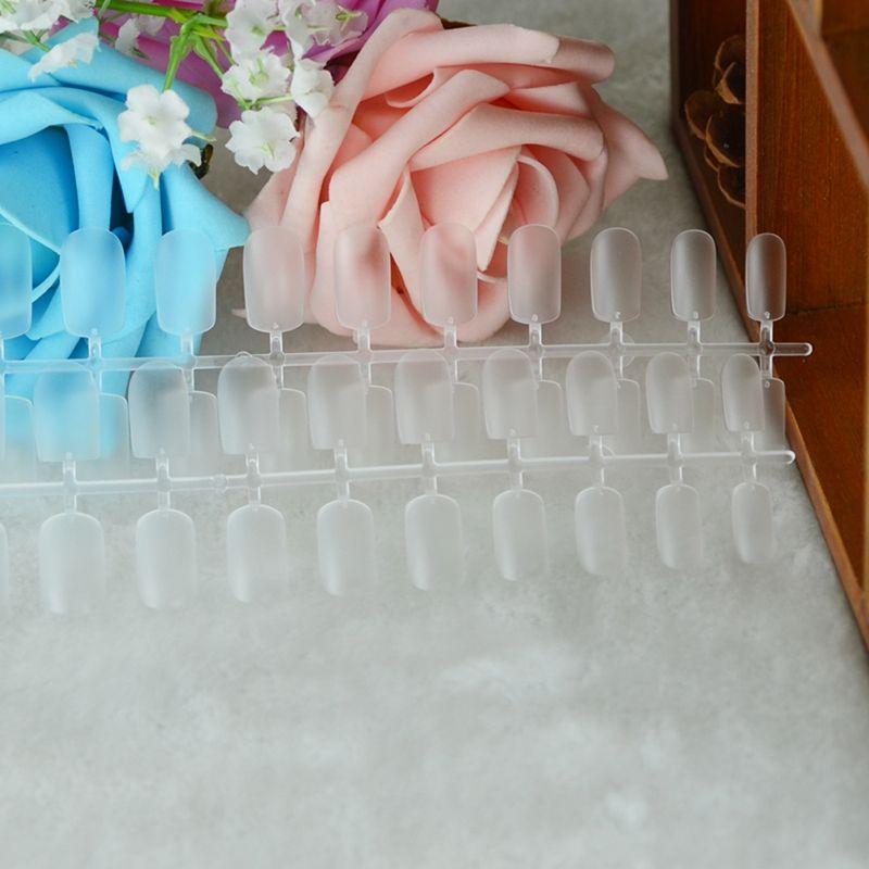 Мягкие поддельные ногти 288 тонкий ногтей полное покрытие фототерапия ногтей патч полный прозрачный ультра-тонкий матовый мягкие ложные наклейки для ногтей