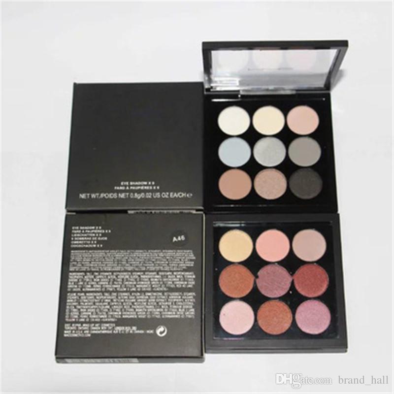 DHL Verschiffen! M Make-up-Marke Lidschatten-Palette 9 Farbe Nude Make-up mit Logo nackt Palette Make-up-Paletten