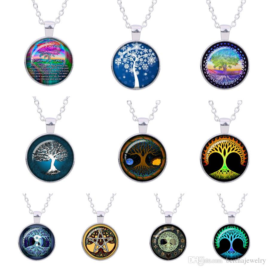Wholesale blue tree of life time gem pendant necklace jewelry wholesale blue tree of life time gem pendant necklace jewelry vintage silvery painting gift woman glass cabochon women necklaces star pendant necklace glass aloadofball Gallery