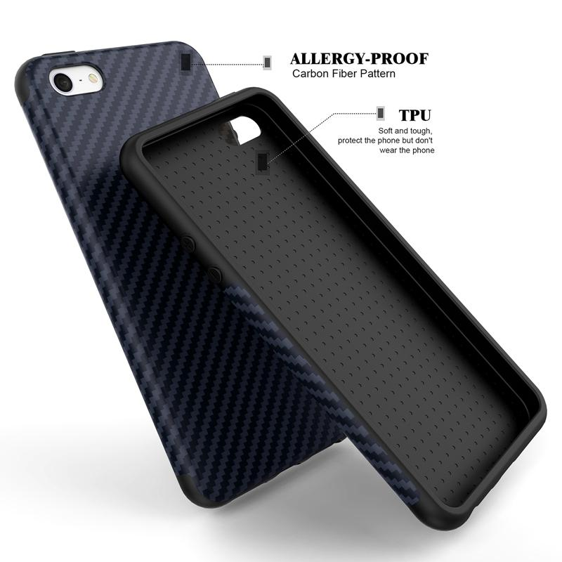 pretty nice 3034c ad599 Luxury Elegent High Quality Carbon Fiber Soft Case For iPhone 5 5S SE  Leather Skin 3D Texture Tire Defender Cover For iPhone SE
