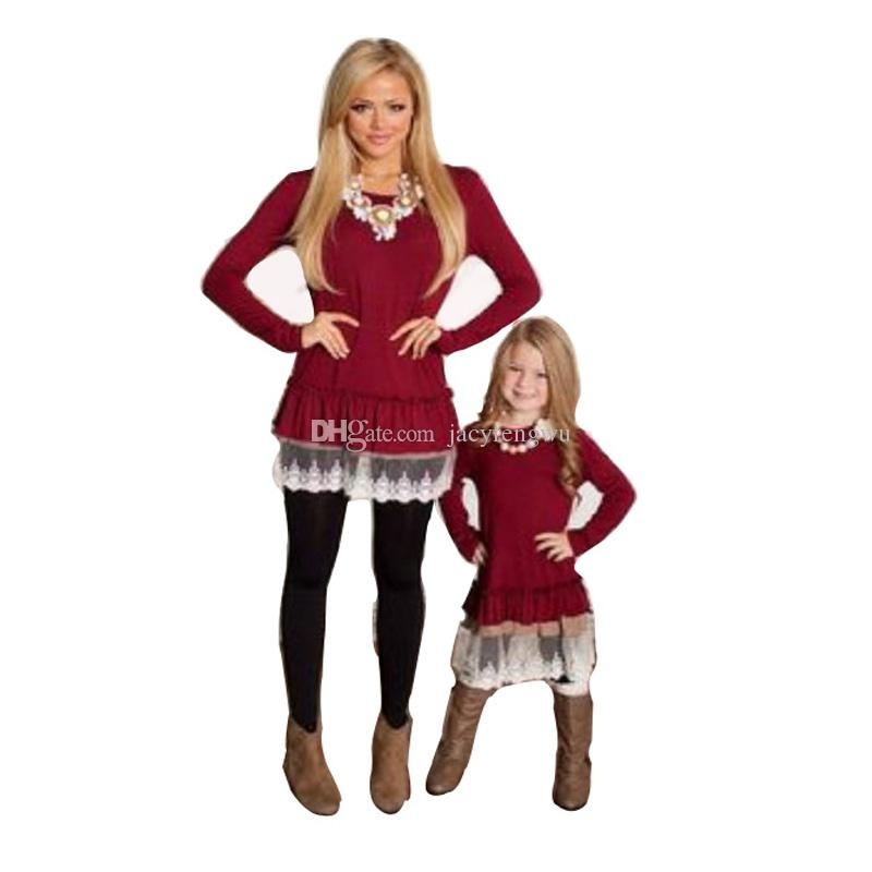 8d96ebd5a19 Mother And Daughter Clothes Family Matching Christmas Dresses for ...