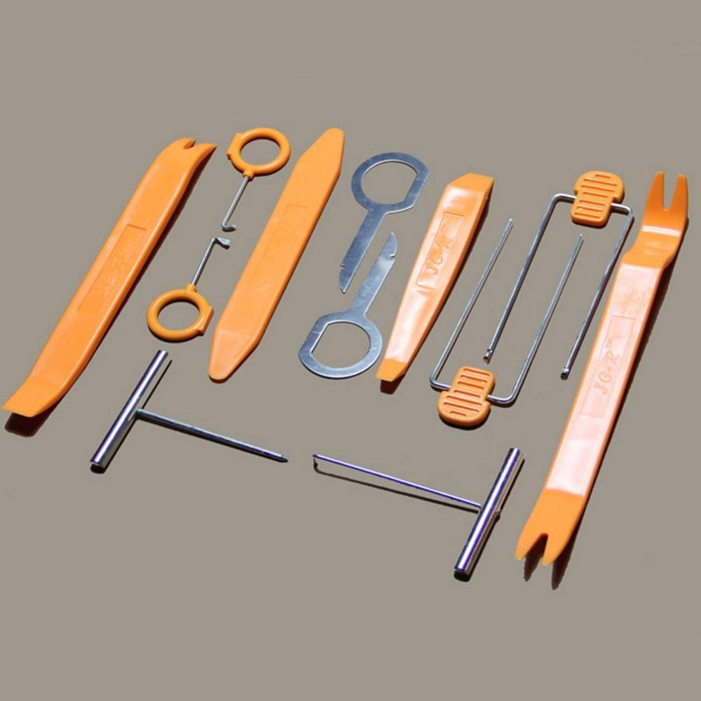 12 Pcs/Set Professional Vehicle Dash Trim Tool Car Door Panel Audio  Dismantle Remove Install Pry Kit Refit Set Tools Car-styling