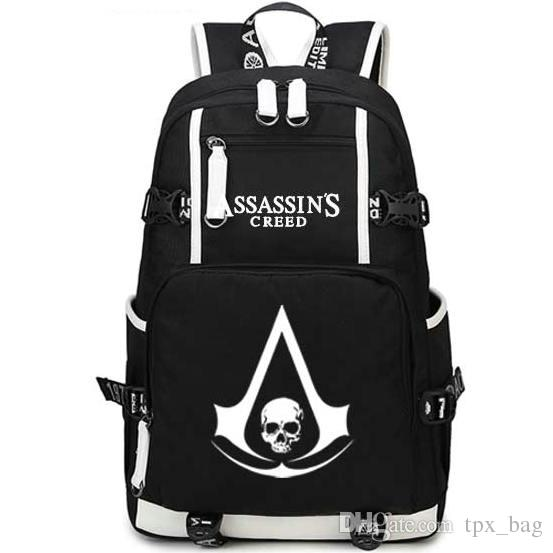 ea207ca4f206 Assassins Creed Backpack Unique Designer Daypack Assassin Schoolbag Game  Rucksack Sport School Bag Outdoor Day Pack Personalized Backpacks Hunting  Backpacks ...