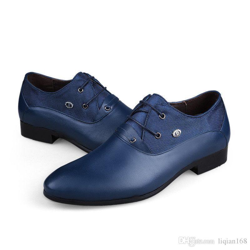 36-50 Große Größe Männer Lederschuhe Gut Aussehend Komfort Männer Hochzeit Schuhe Mode Lace Up Höhe Zunehmende Schuhe Männer Schuhe