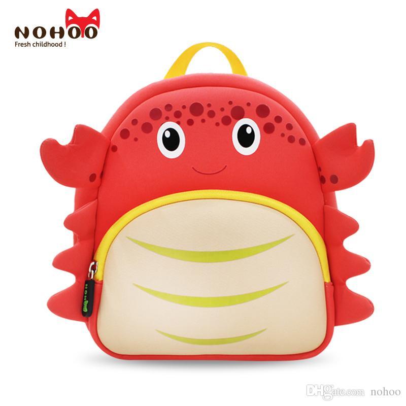 a91db3860cbe Children school bag factory NOHOO backpack Crab design neoprene cheap  custom animal school bag for boys girls