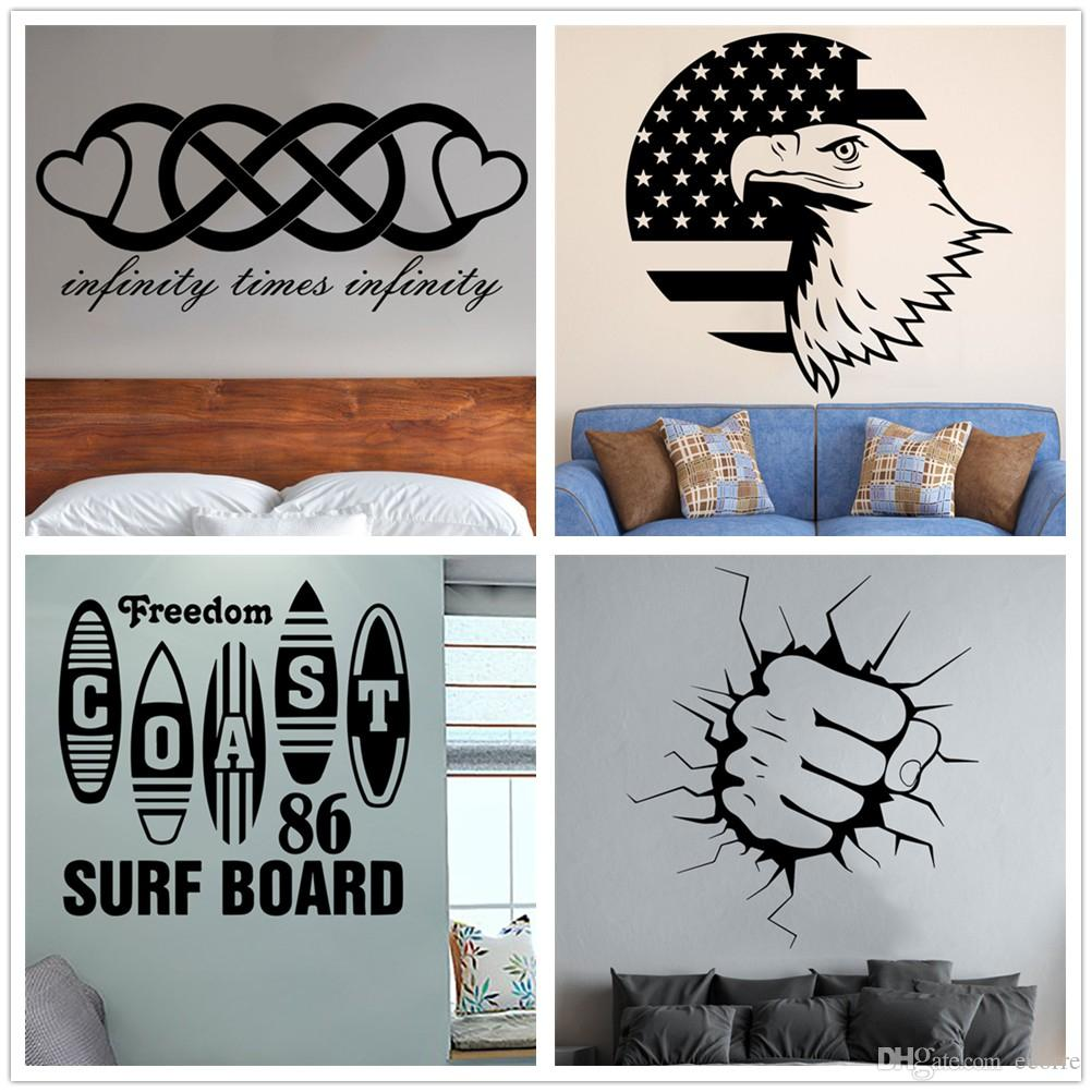 Infinity Love Wall Decal Surf Board Wall Sticker Vinyl Eagle America