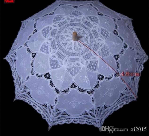 Battenburg Parasol et Fan Sun Parapluie Set Mariée Taille Adulte Vintage