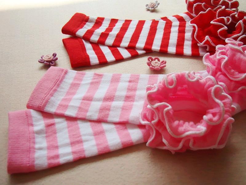 Nuovo bambino bambini leggings collant neonate scaldino del piedino calzini calzini a righe regalo Dots puro cotone natale ragazza Legging A6346