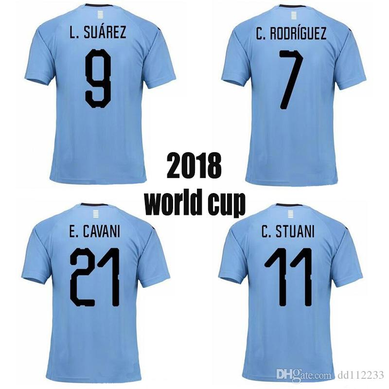 2019 Newest URUGUAY 2018 Top Thai Quality Jersey World Cup SUAREZ Soccer  Jerseys D.GODIN E.CAVANI URUGUAY Home 18 19 Football Shirt From Dd112233 c396f58de