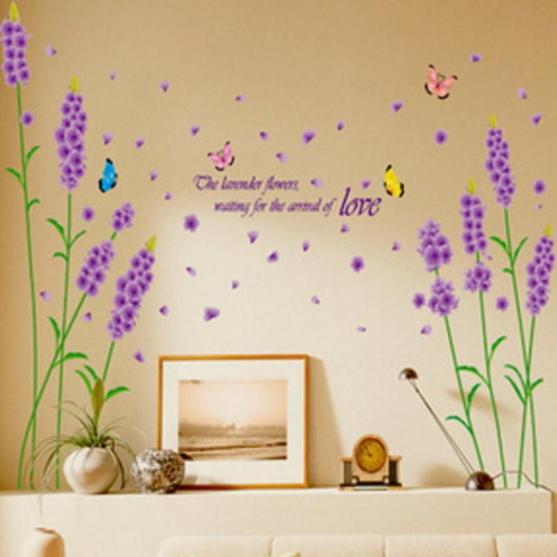 Children Wall Sticker Decoration Lavender Kids Boy Photo Wallpaper ...