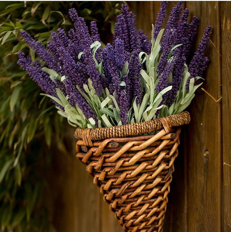 Artificial Provence Lavender Flowers Silk Flowers Simulation Flower Plant Simulation Plants Flowers Adornment Family Wedding Decoration