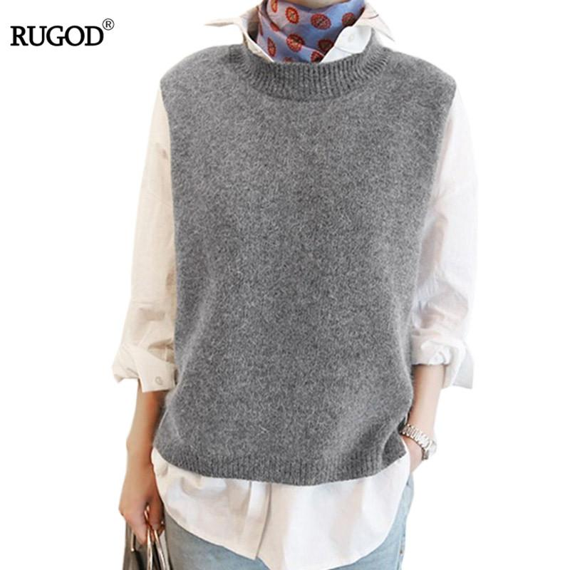 2018 2017 Spring Autumn Wool Sweater Vest Women Sleeveless O Neck ...