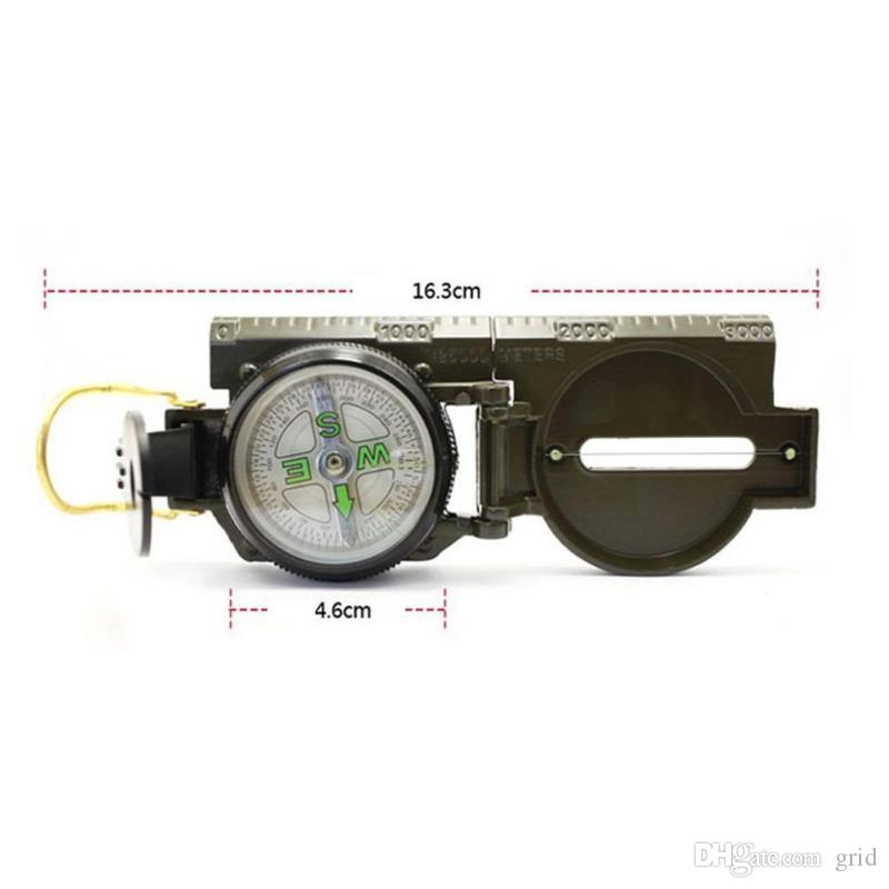 Mini Military Lensatic Watch Pocket Compass Magnifier Army Green For Camping Hunting Marching, Wholesale