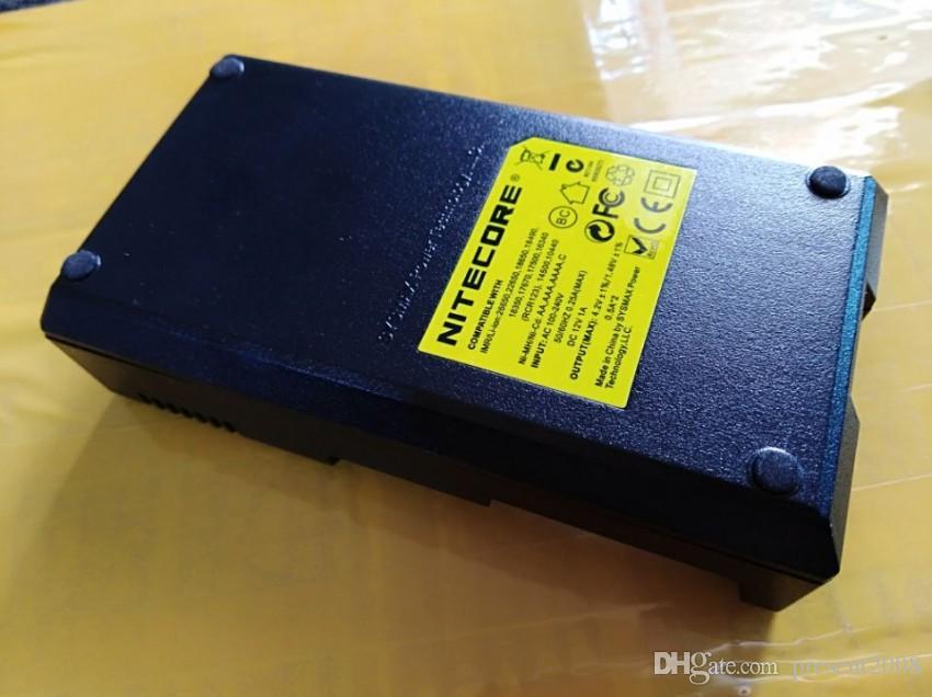 Подлинное универсальное зарядное устройство Nitecore I2 для аккумуляторов 16340/18650/14500/26650 E сигарет США ЕС AU UK Plug 2 in 1 Зарядные устройства Intellicharger