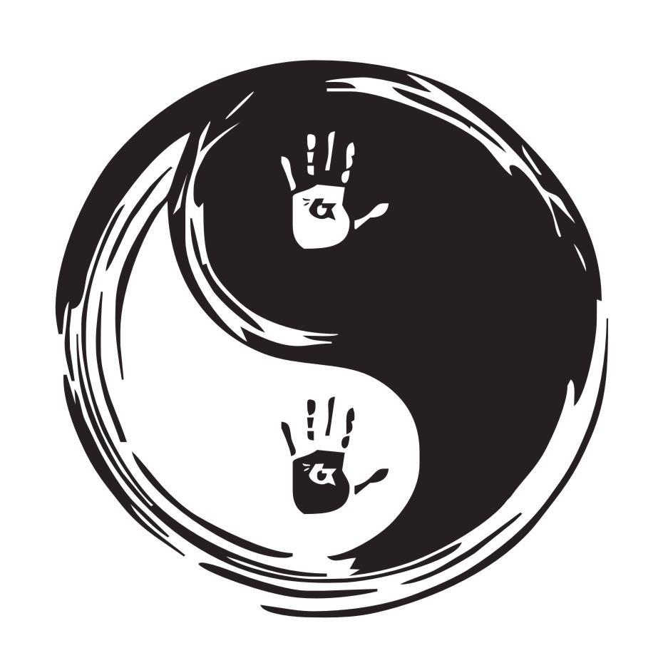 Çin Yin Yang Duvar Çıkartmaları Ev Dekor Handprint Vinil Sanat Sticker Çıkarılabilir Duvar Çıkartmaları Yaratıcı Dekorasyon