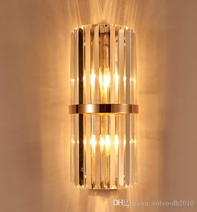 Perfect Best Quality K9 Crystal Wall Sconce Bedroom Wall Lamp With Switch  Livingroom Dining Bedroom Led Wall Light Conference Hall Hotel Gold Crystal  Lamps Llfa At ...
