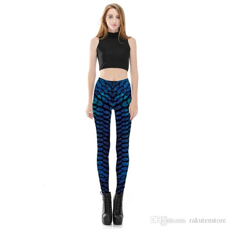 Europe and America selling digital print elastic pants stretch pants leggings pant