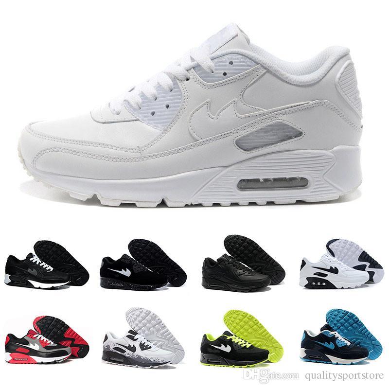Acquista Nike Air Max 90 Scarpe Da Ginnastica Uomo Scarpe Classiche 90  Scarpe Casual Da Uomo E Da Donna Nero Rosso Scarpe Da Ginnastica Sportive  Bianche ...