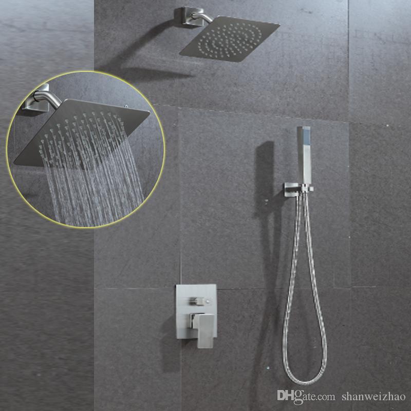 New Design Ultra Thin Water Saving Shower Head Set Rainfall 8inch - Water-saving-set-for-the-bathroom