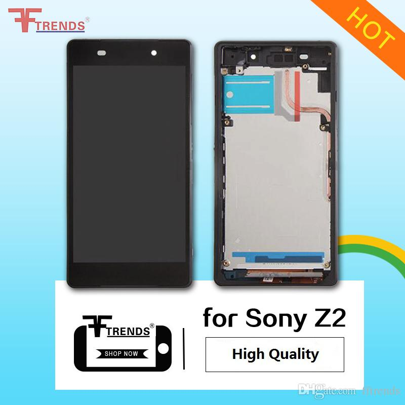 High Quality for Sony Z2 Z4 Z5 C5 Ultra LCD Display & Touch Screen Digitizer with Frame Full Housing Black White Free DHL Shipping