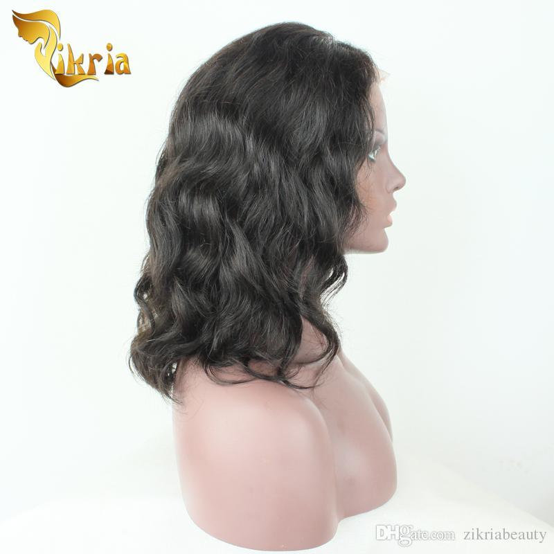 Big Bob Wave Brazilian Virgin Hair Lace Front Human Hair Wigs Indian Malaysian Peruvian Full Lace Human Hair Wigs