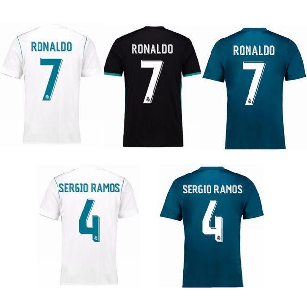 66263f4521b09 2019 2017 18 RONALDO BALE SERGIO RAMOS BENZEMA ASENSIO MODRIC CAMISETA  FUTBOL Soccer Jersey Camisetas Futbol Thailand Quality Football Jerseys  From Anthonio ...