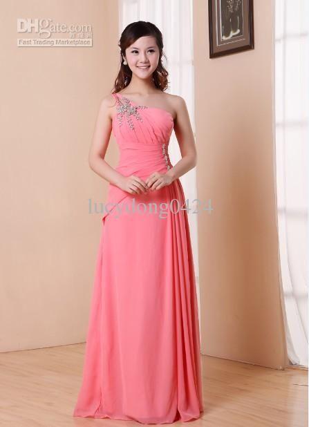 Yeni Ucuz Sıcak Satış Tek Omuz Sequins Süslenmiş Zarif Örgün Abiye Gelinlik Modelleri / Düğün Parti Elbiseler