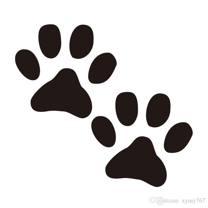 2019 Dog Paw Print Car Styling Personality Funny Car Stickers Rear