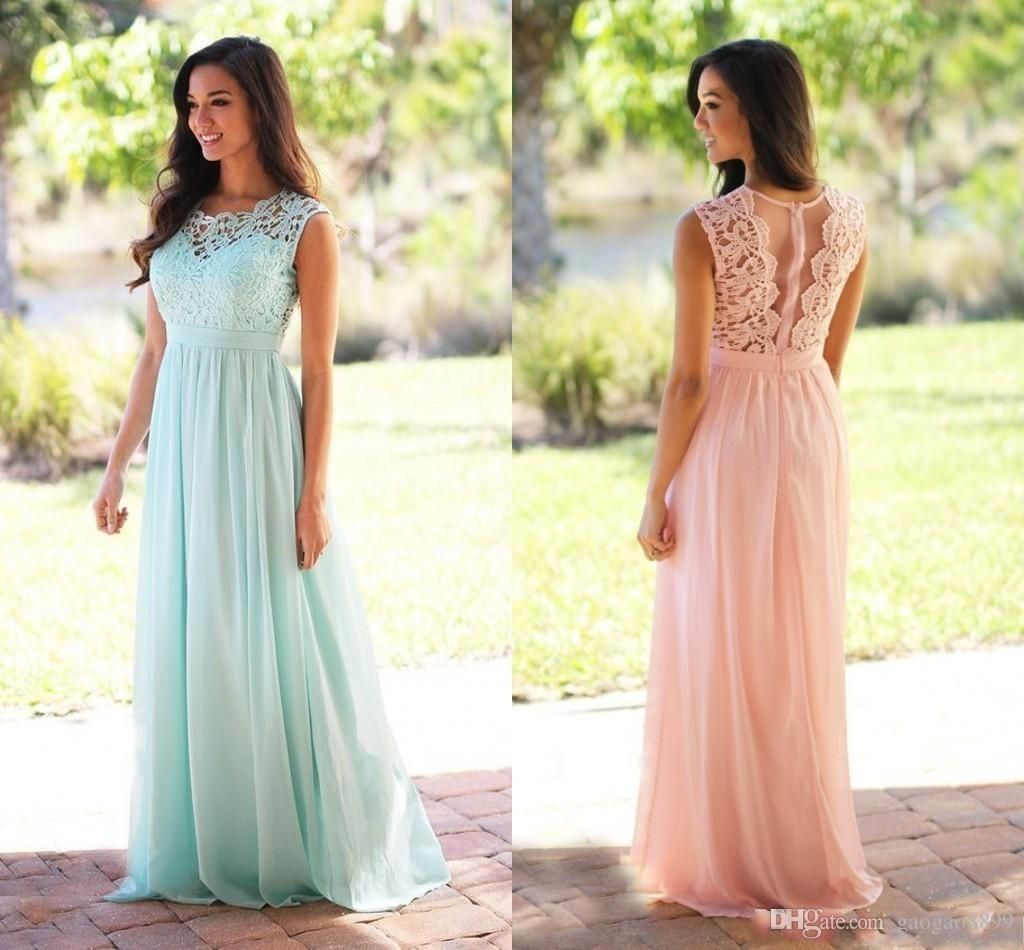 2017 cheap country style bridesmaid dresses jewel neck sleeveless 2017 cheap country style bridesmaid dresses jewel neck sleeveless a line lace junior wedding guest dress chiffon maid of honor dress tangerine bridesmaid ombrellifo Choice Image