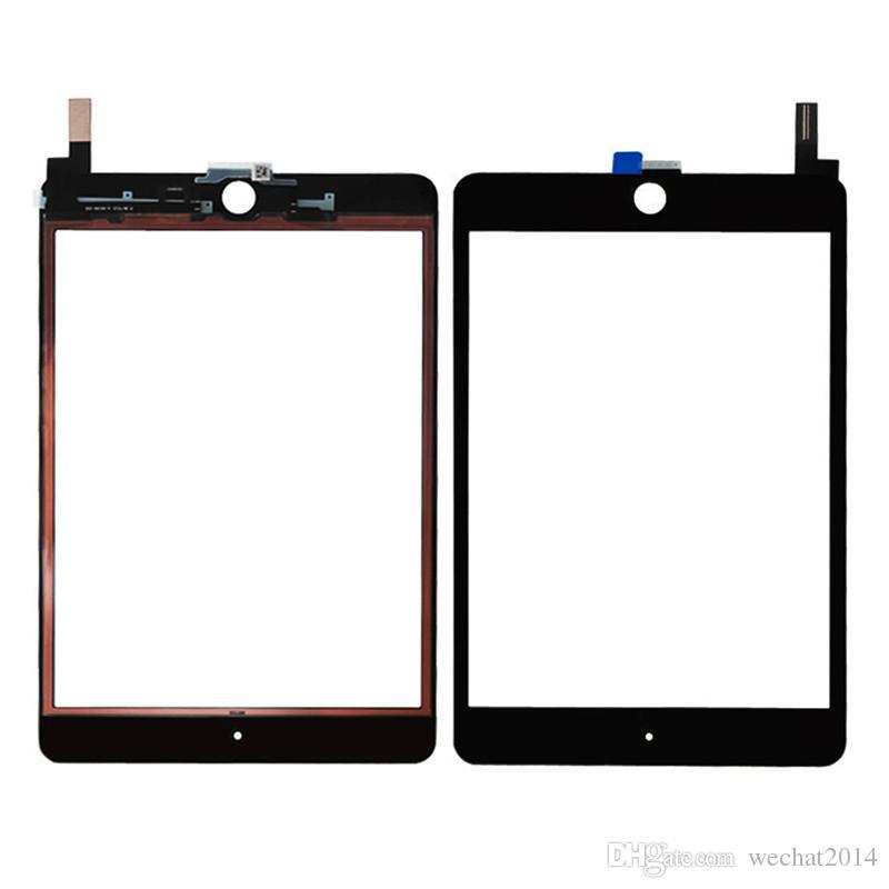 Pannello di vetro 100% dello schermo di tocco con digitalizzatore sostituzione iPad Mini 4 in bianco e nero libero del DHL