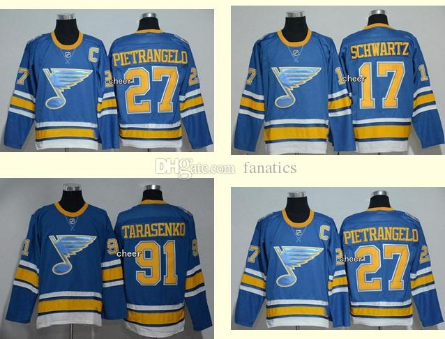 Wholesale Men s St Louis Blues 17 Jaden Schwartz 91 Tarasenko 27  Pietrangelo Royal Blue 2017 Winter Classic Premier Jerseys Top Quality 17  Jaden Schwartz 91 ... 27f388bc5