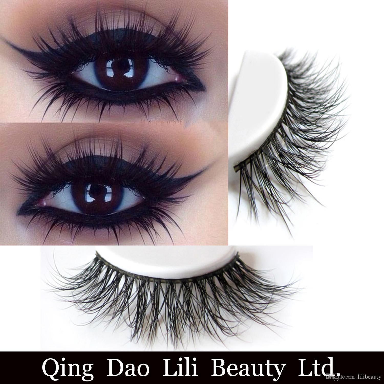 3d Mink Eyelash False Eyelashes Handmade Natural Long Thick Mink Fur