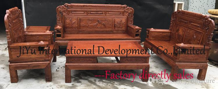 2017 Luxury Wood Sofa Sets 123 Living Room Furniture Carving Home Sofa 100%  African Rosewood Chinese Ancient Tenon Natural Lacquer Craft From  Jyfurniture, ...