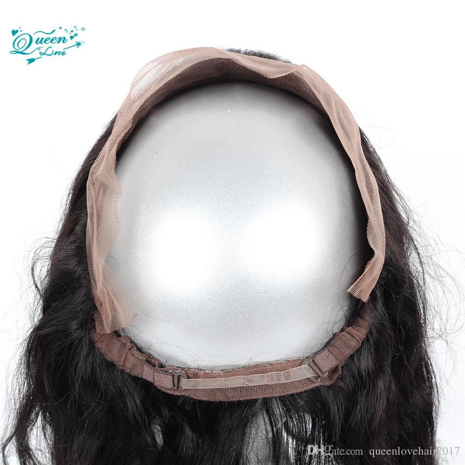 100% capelli umani vergini brasiliani 360 Lace Frontal Lace10-18inch diritto capelli naturali di colore A Medium queenlovehair2017