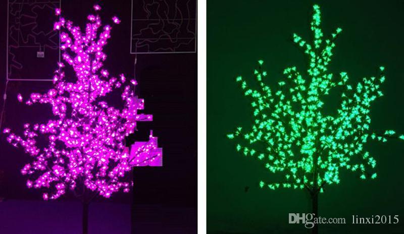 Arbre de Noël artificiel extérieur de 1.5m / 5ft de hauteur LED arbre de fleur de cerisier LED droite arbre de tronc de LED
