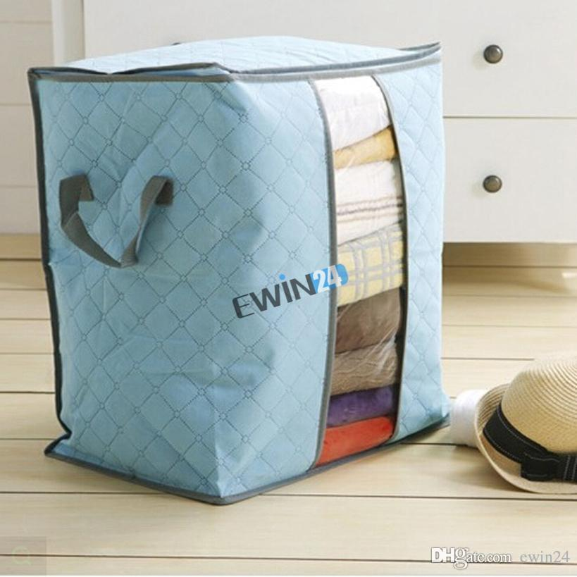 Storage Bags For Clothing Blanket Pillow Soft and Breathable Non-woven Fabrics New PackFlexible Storage Bag Tote