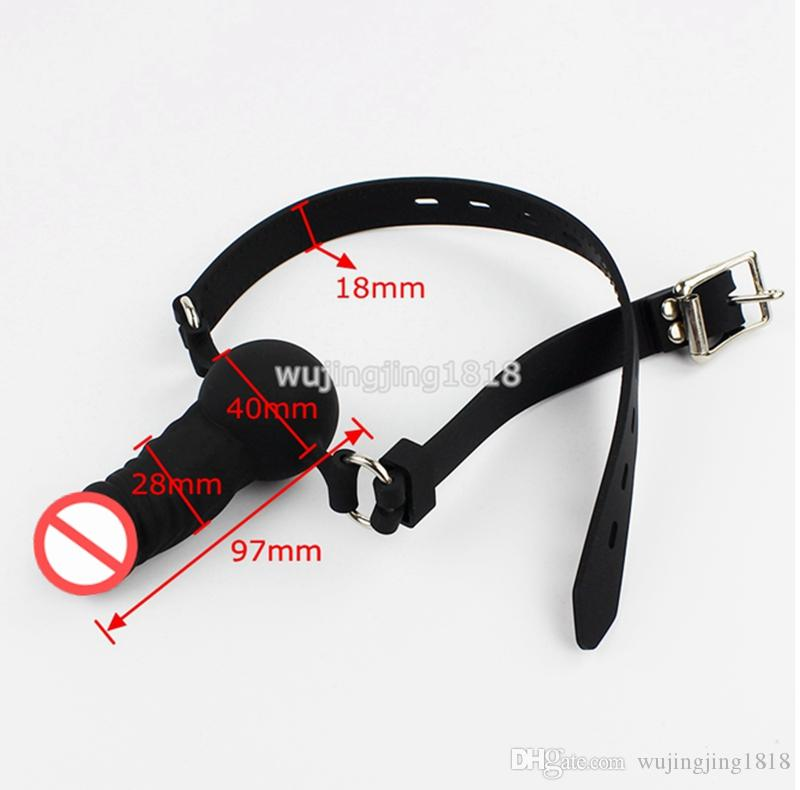 Full Silicone Open Mouth Gag BDSM Bondage Restraints Ball Gags Oral Fixation Sex Toy For Couple Adult Game