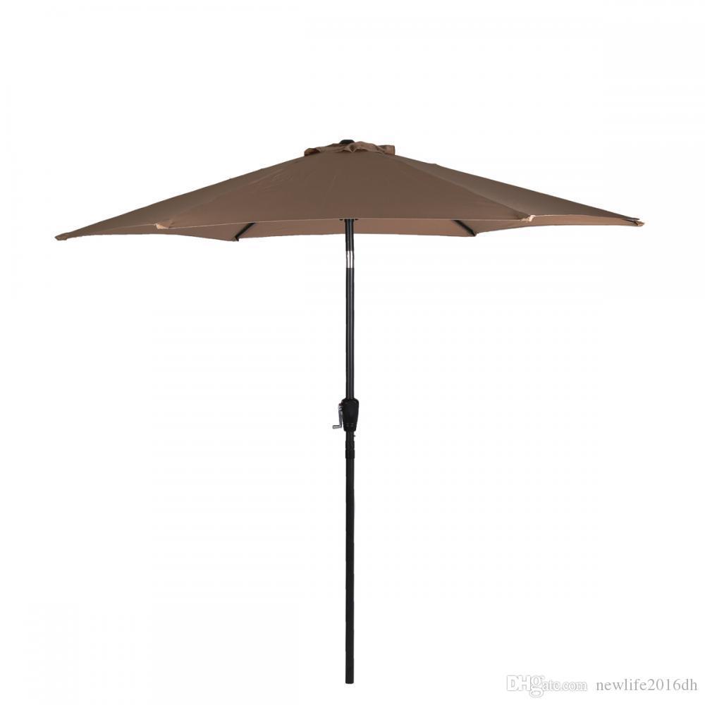2019 New Tan Patio Umbrella 9 Aluminum Market Tilt Outdoor38 From Newlife2016dh 2944