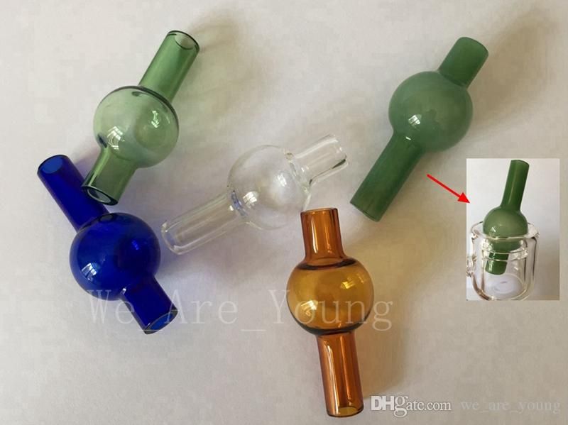 XLの厚い石英サーマルバンジャーネイルガラスの水のパイプのための普遍的な色のガラスの泡炭素キャップの丸いボール