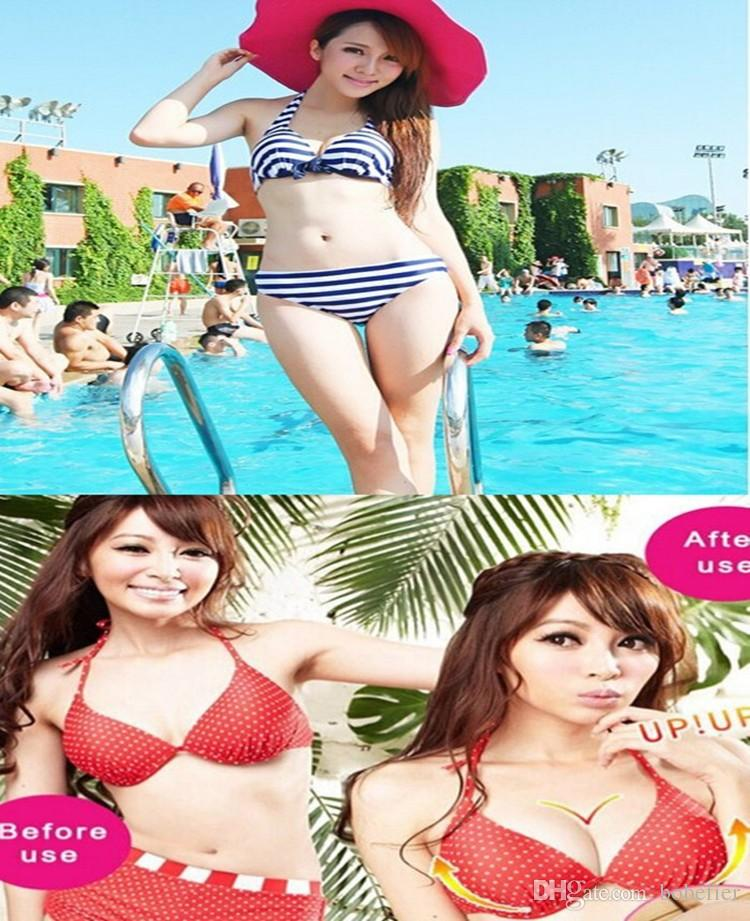 =Hot Sale Triangle Cups Bikini Bra Pad Chest Push Up Insert Foam Pads For Swimsuit Padding Accessories Beige Chest Pad